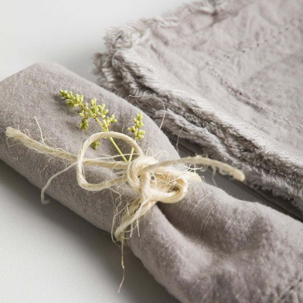 Frayed Edge Napkin Grey- Picnic SF