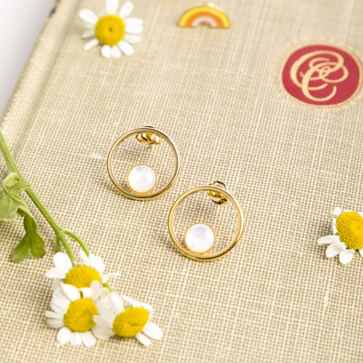 Orbit Mother of Pearl Studs - PICNIC SF
