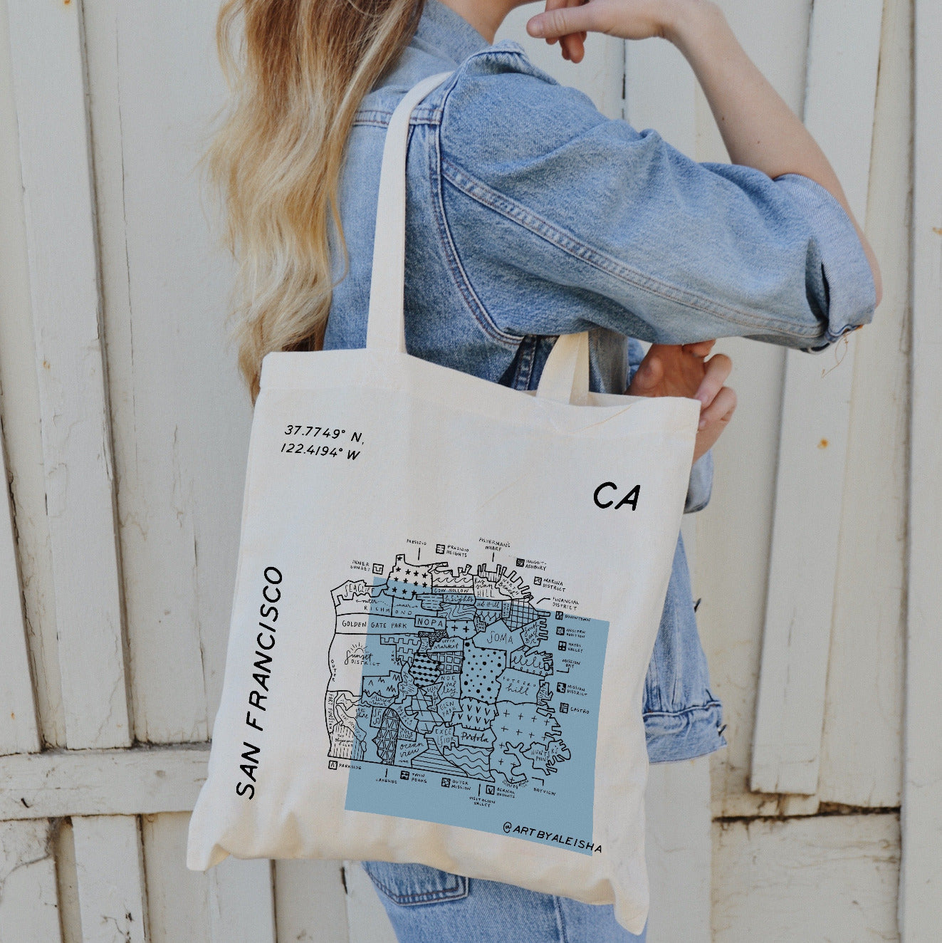San Francisco Map Tote available at Picnic SF