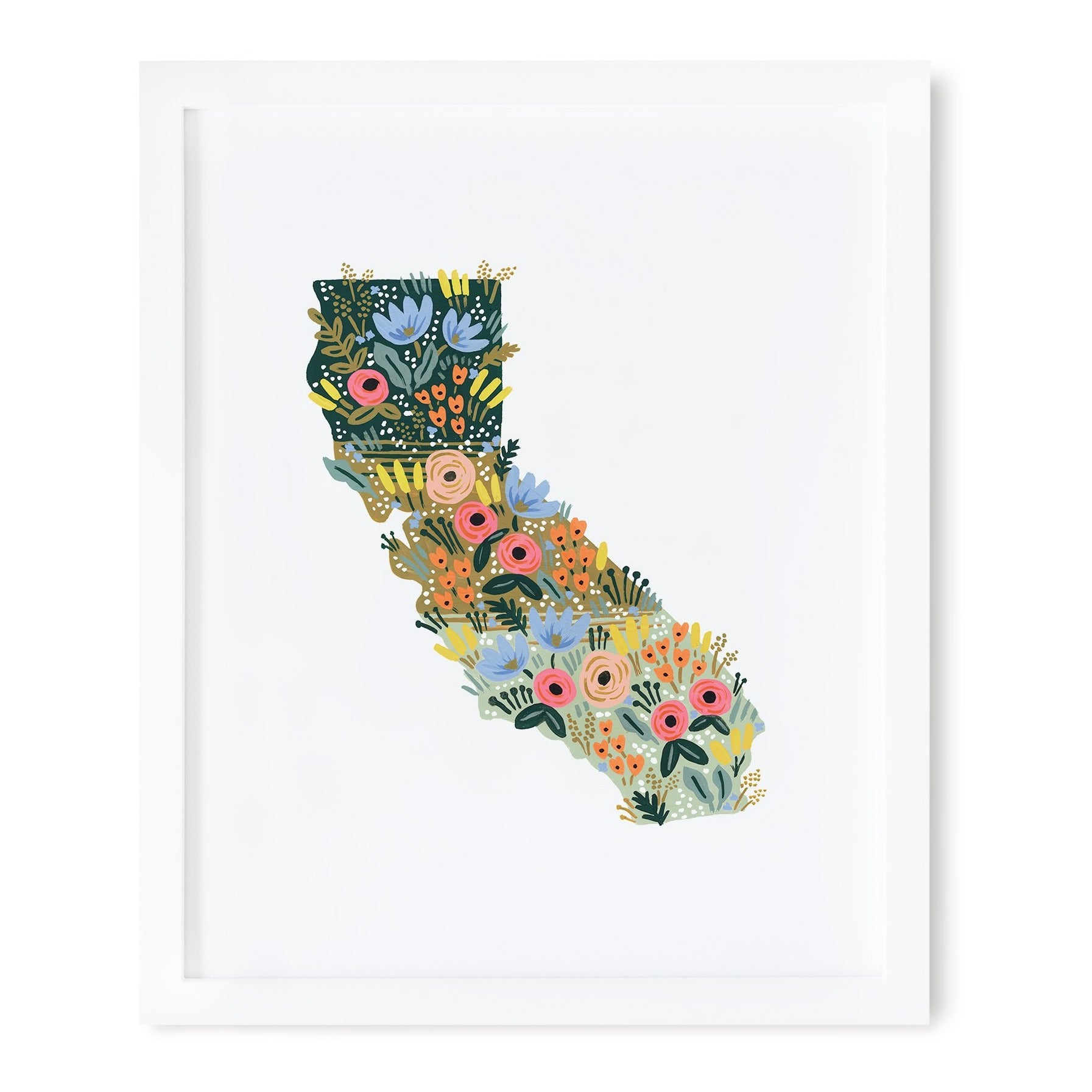 California State Wildflowers Art Print