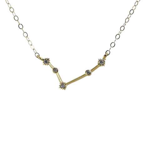 Aries CZ Outline Necklace
