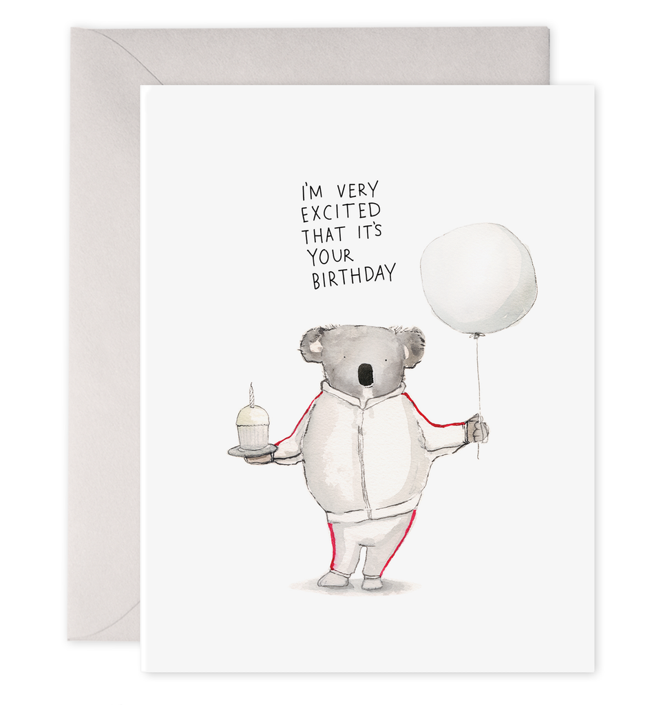 Koala Birthday Excitement Card-Picnic-sf