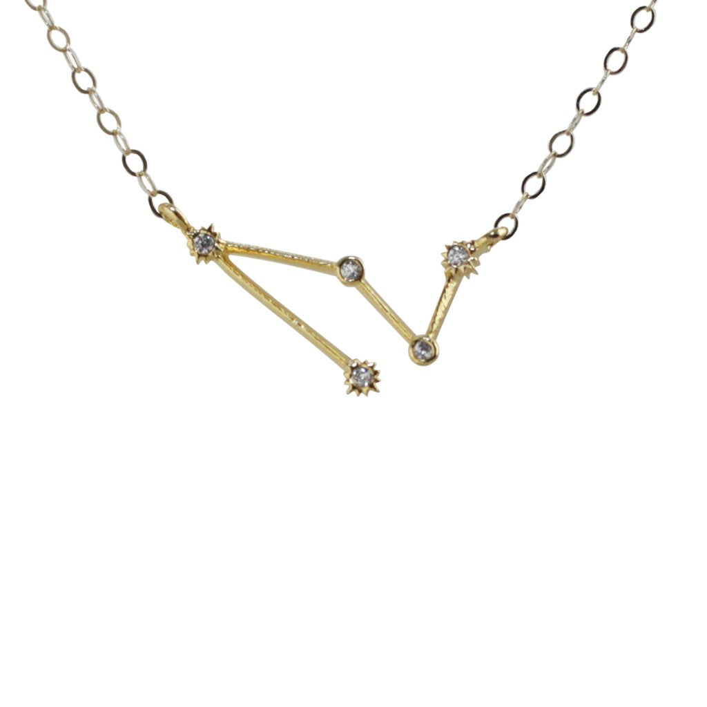 Capricorn CZ Outline Necklace - picnic-sf