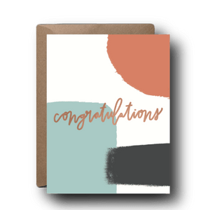 Muted Abstract Congratulations Card-Picnic-sf