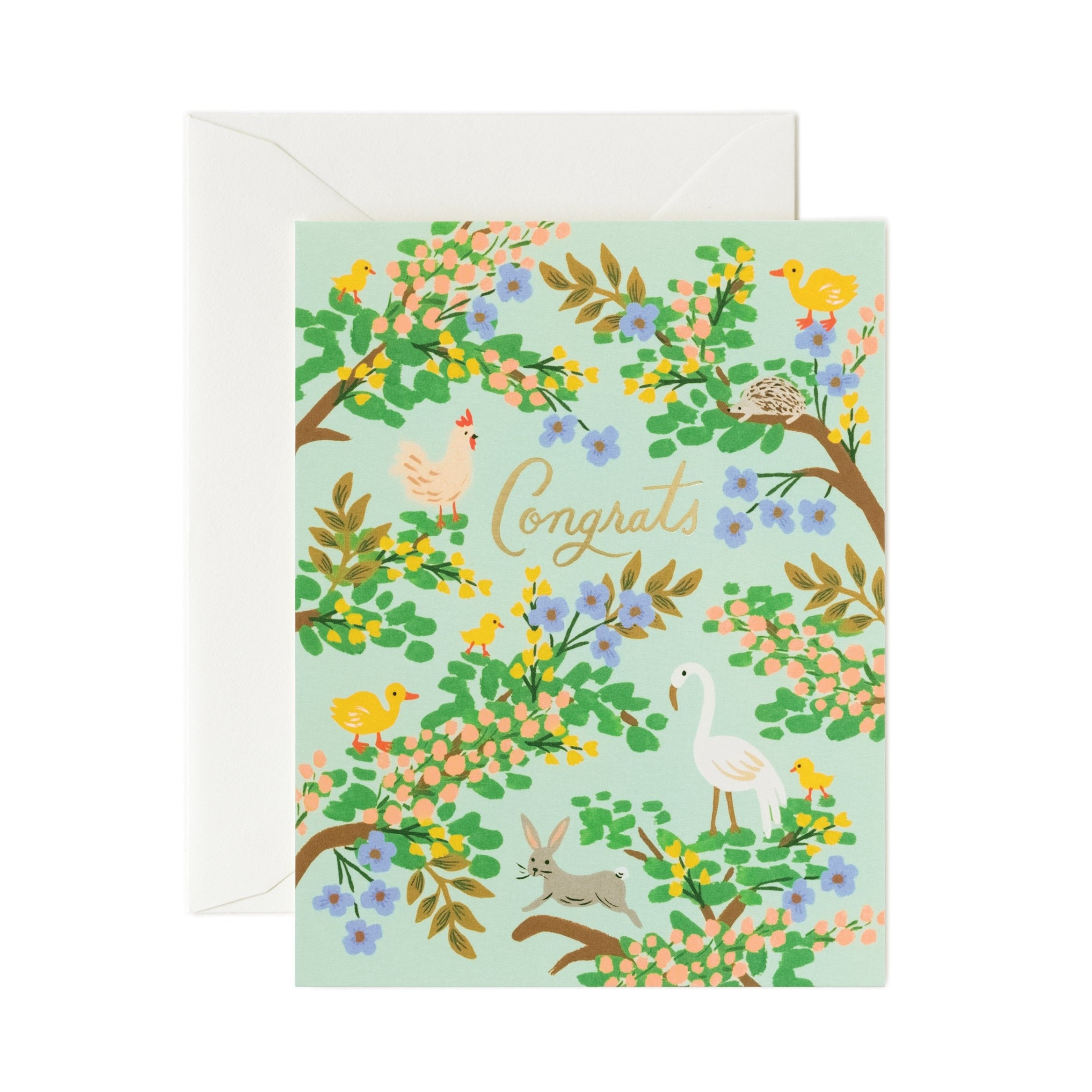 Congrats Forest Baby Card