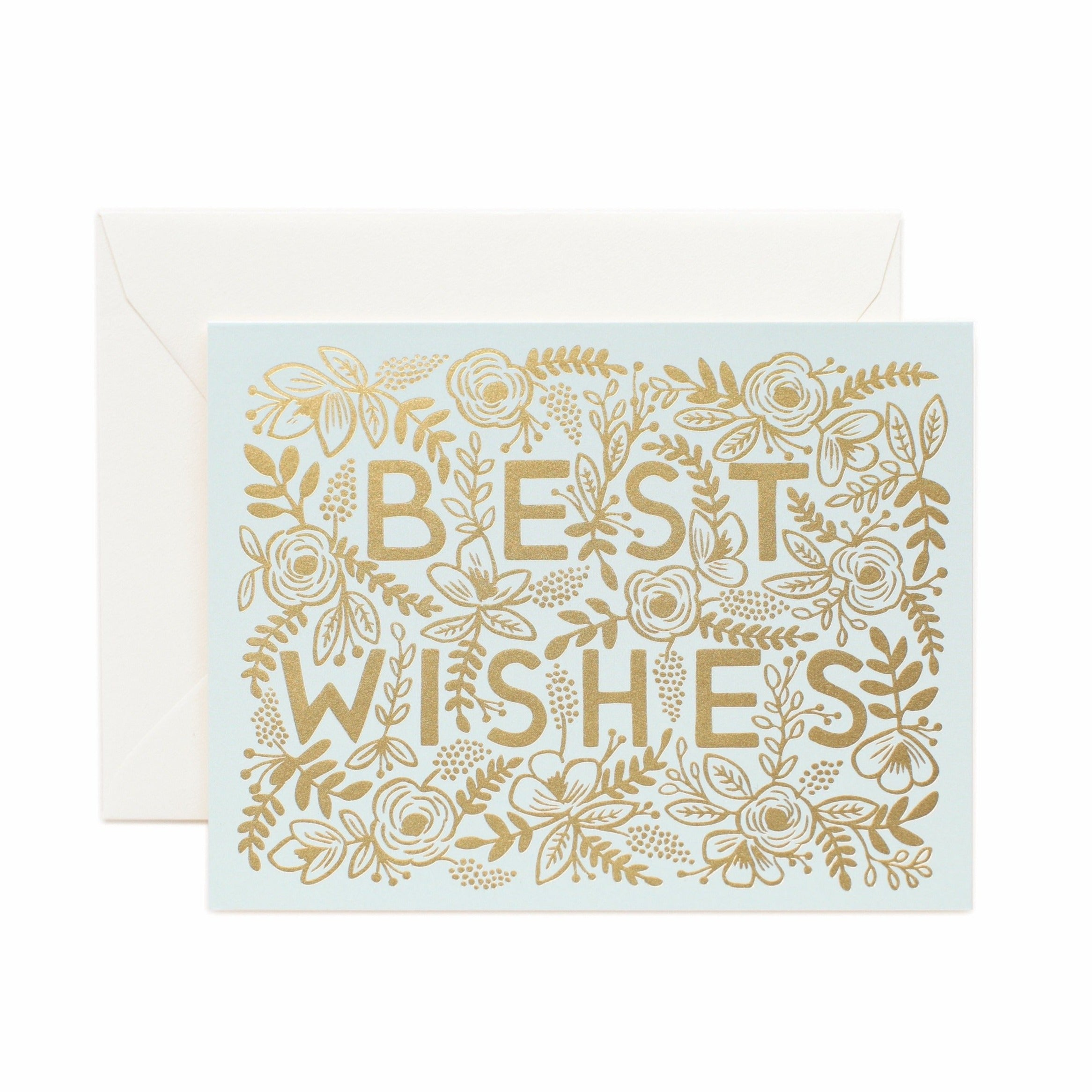 Rifle Golden Best Wishes Card