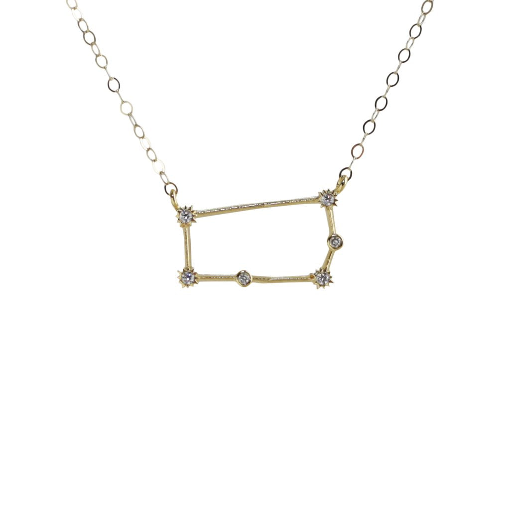 Gemini CZ Outline Necklace - picnic-sf