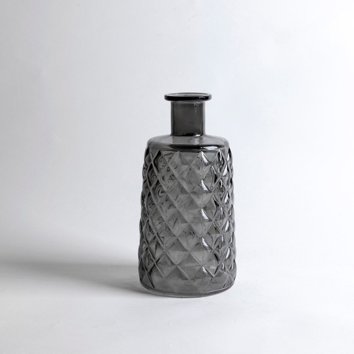 Grey Embossed Glass Vase - Picnic SF