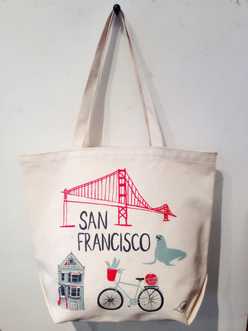 San Francisco Market Beach Tote Bag