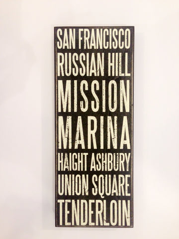 San Francisco Neighborhood Box Sign