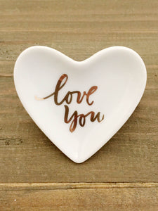 Brush Love You Mini Heart Porcelain Tray