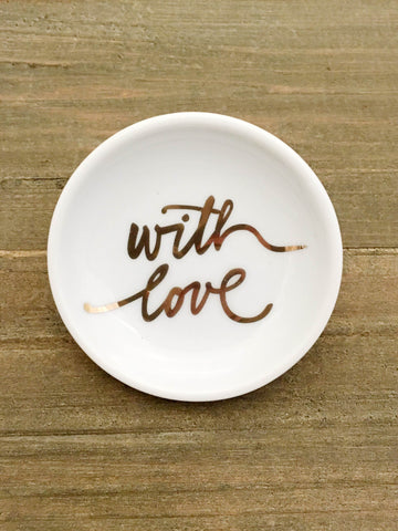 Brush With Love Mini Porcelain Tray