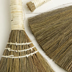 Brown & White Wrapped-Handle Whisk Broom Set -Picnic-sf