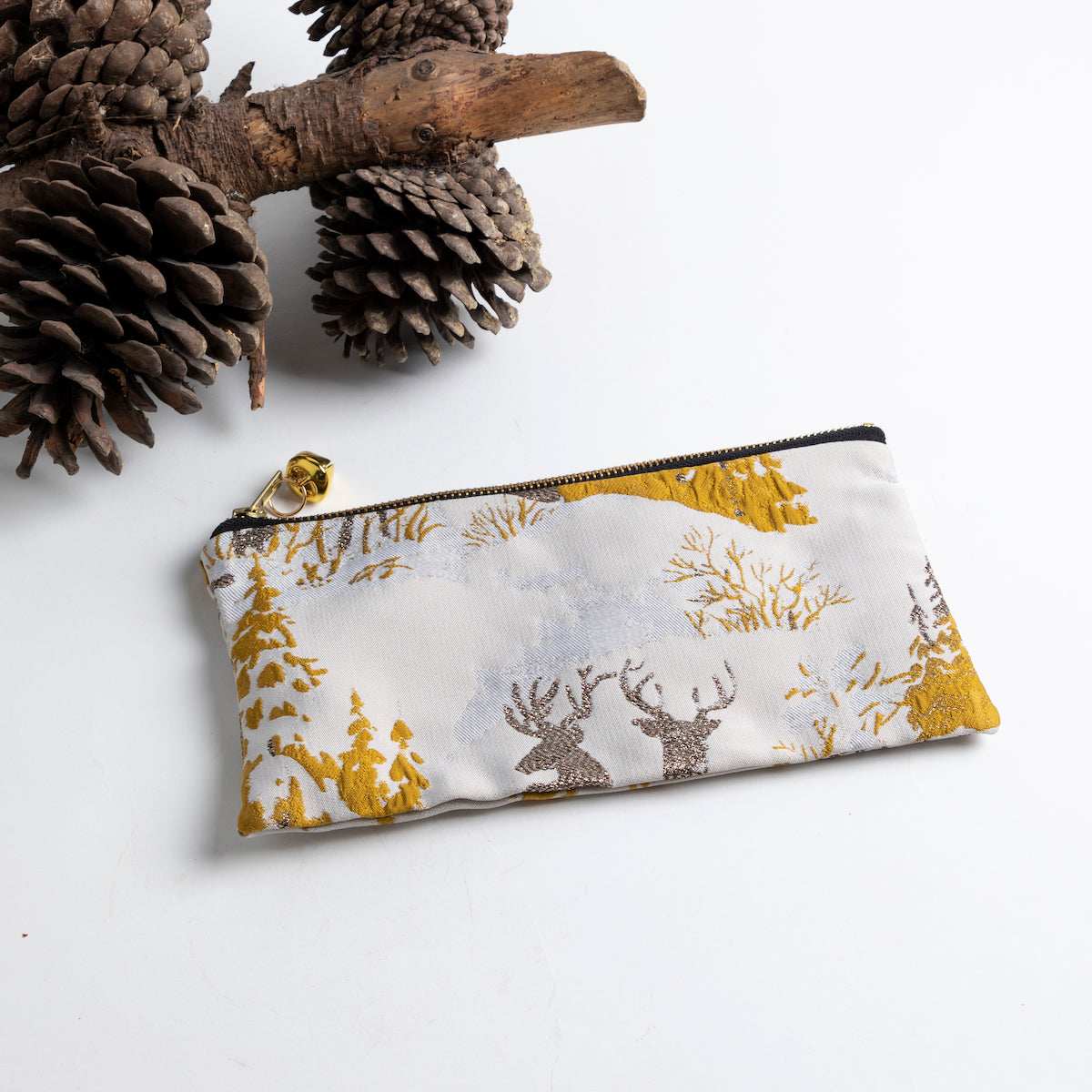Jingle Bell Zip Pouch Small- Picnic SF