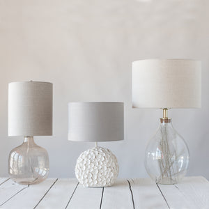 Cora Resin Base Table Lamp with Linen Shade