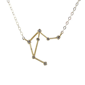 Libra CZ Outline Necklace - picnic-sf
