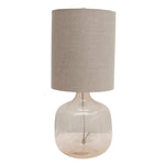 Mercer Glass Table Lamp with Cotton Shade