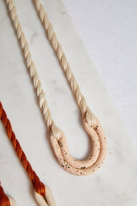Speckled Nude Double Arc Necklace - picnic-sf