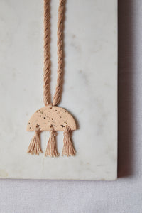 Speckled Half Moon Necklace - P I C N I C