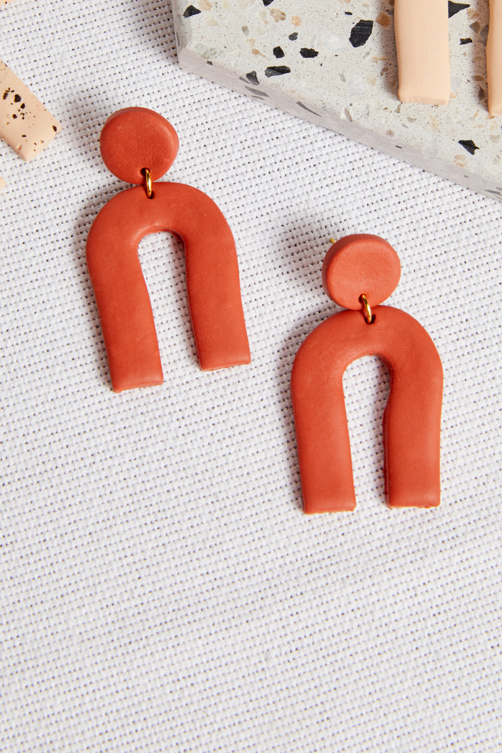 Rust Arc Earring