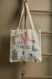 San Francisco Market Everyday Tote Bag - picnic-sf