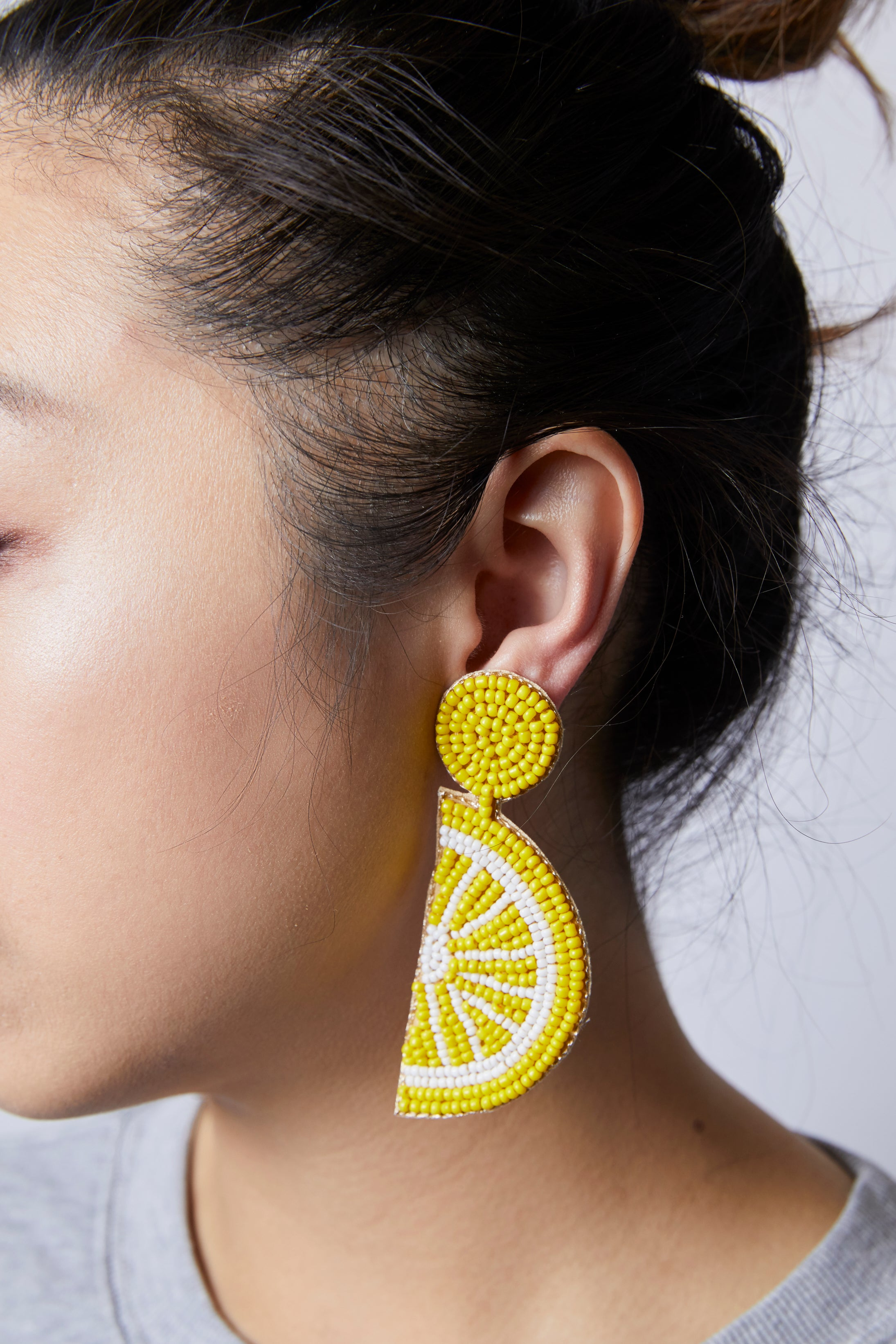 Seed Bead Lemon Earring - picnic-sf