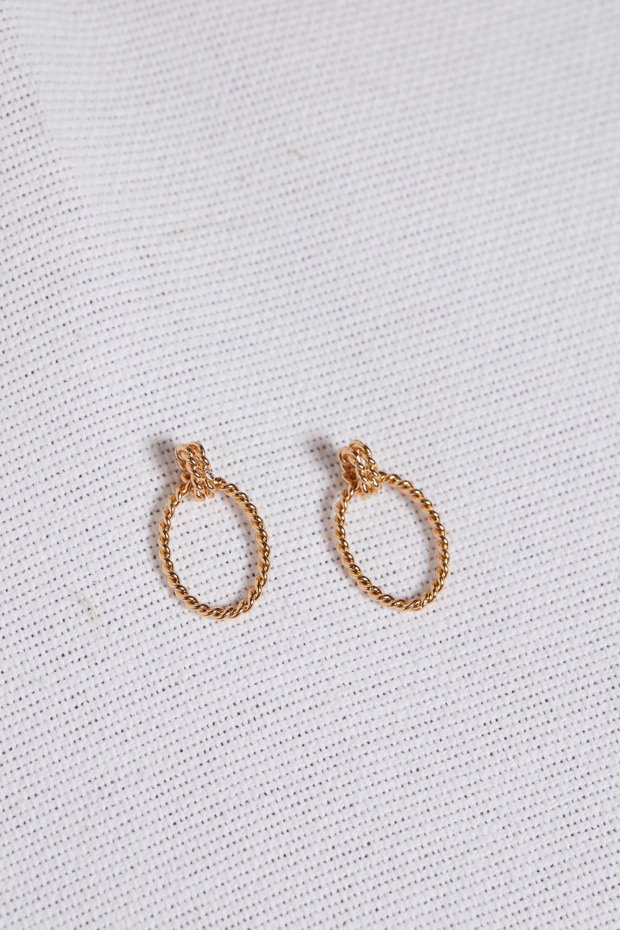 Oval Rope Drop Earring - picnic-sf