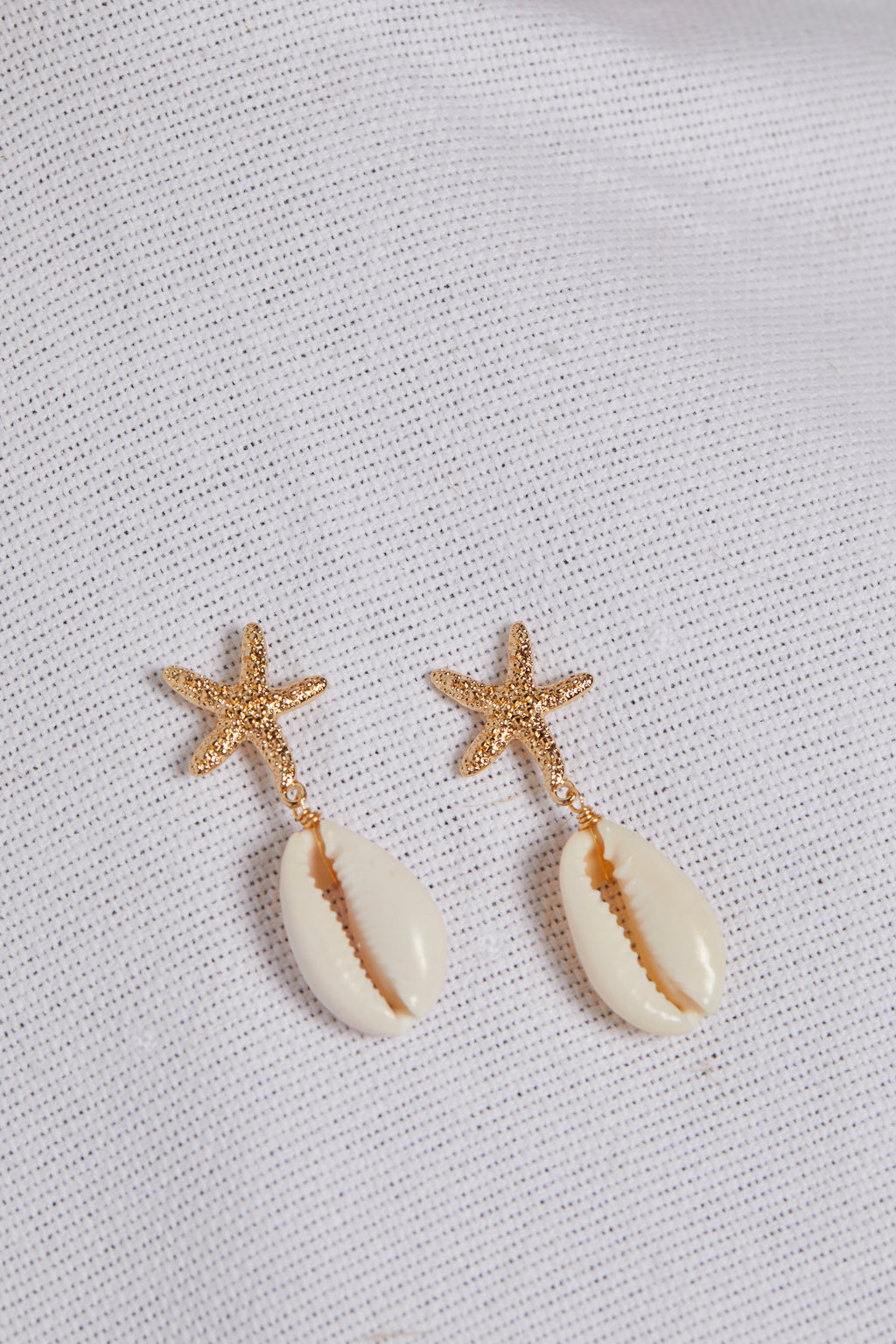 Starfish & Shell Drop Earring - picnic-sf