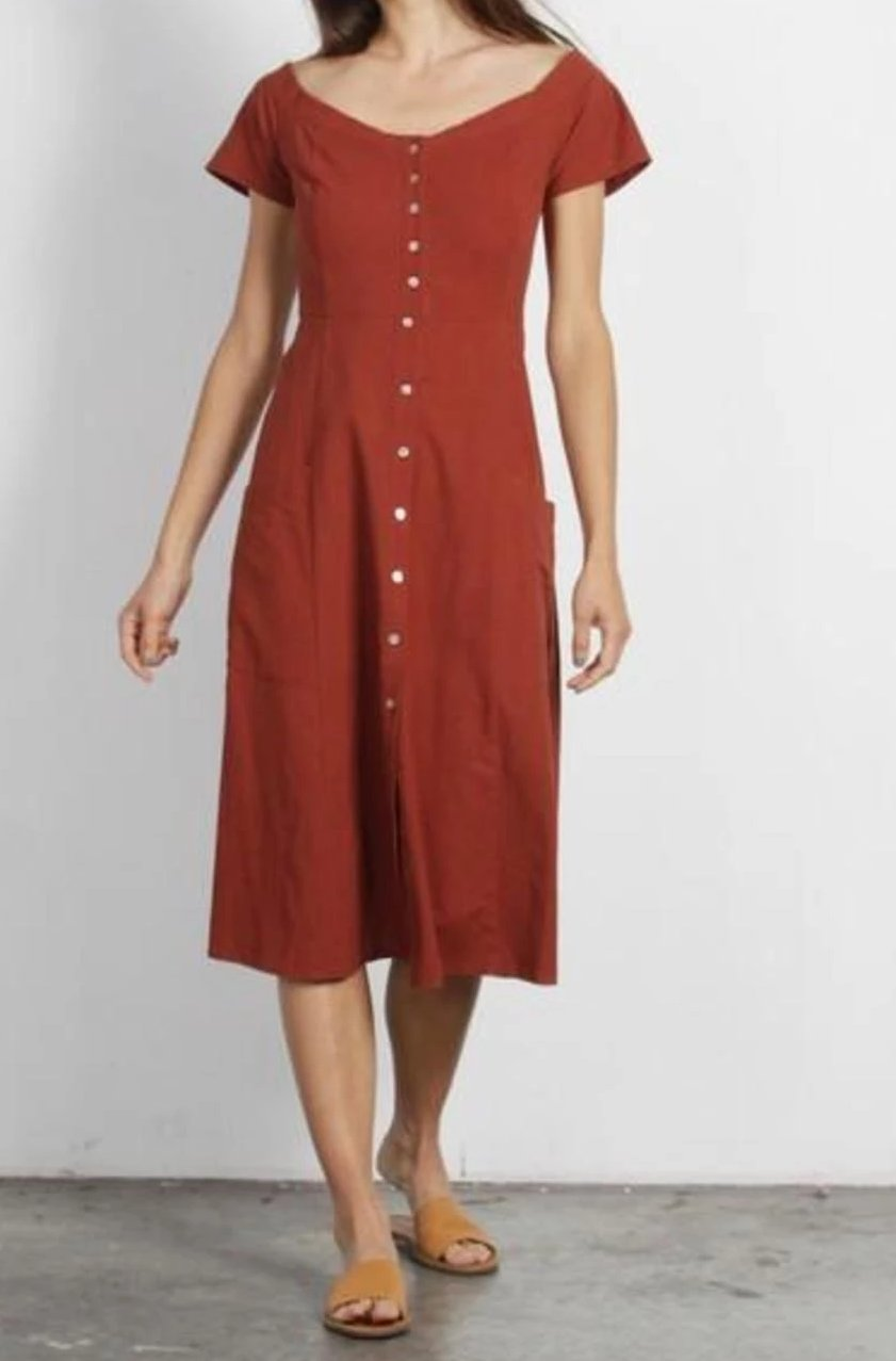 The Israel Button Down Dress - picnic-sf