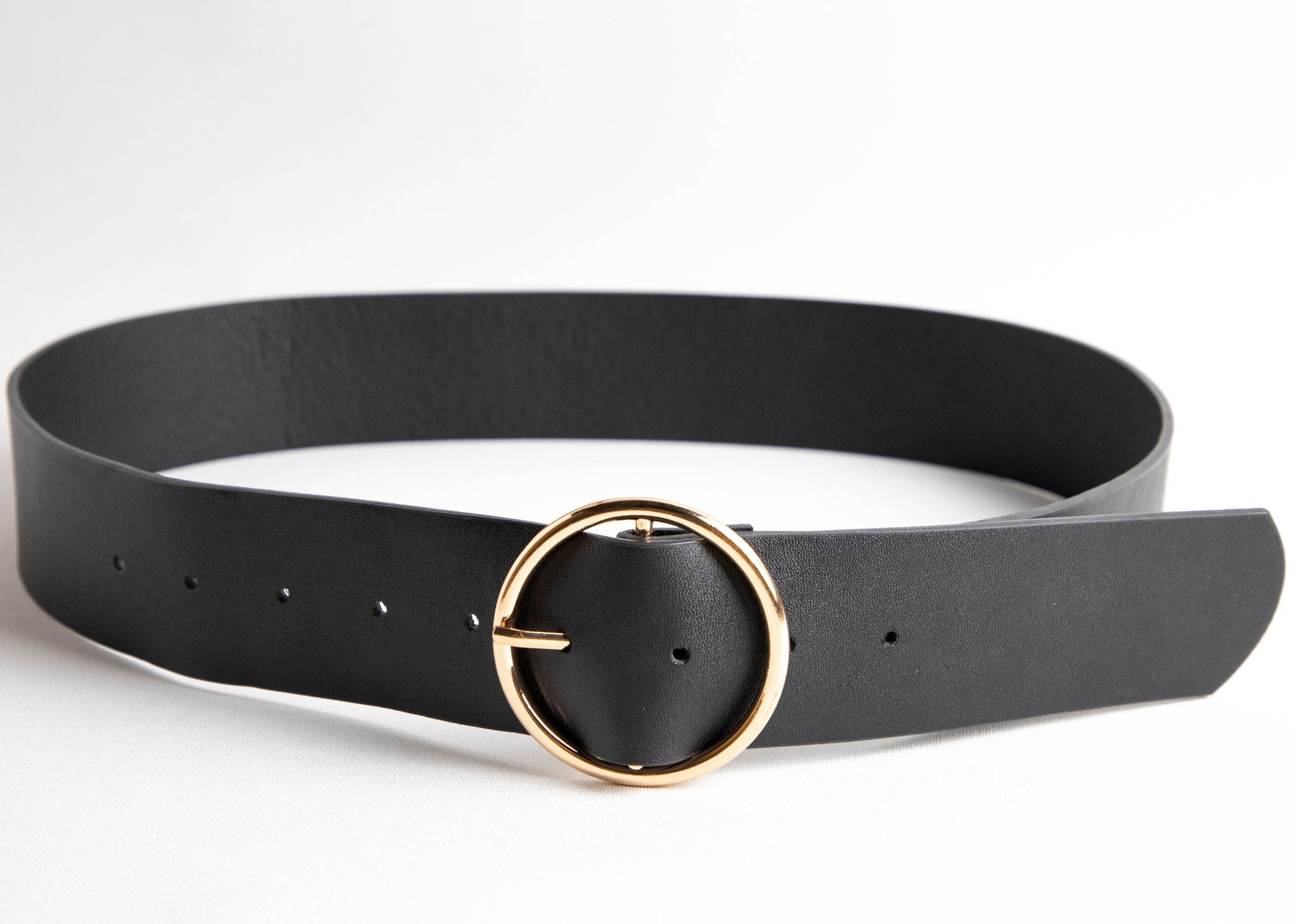Faux Circle Ring Buckle Belt - picnic-sf