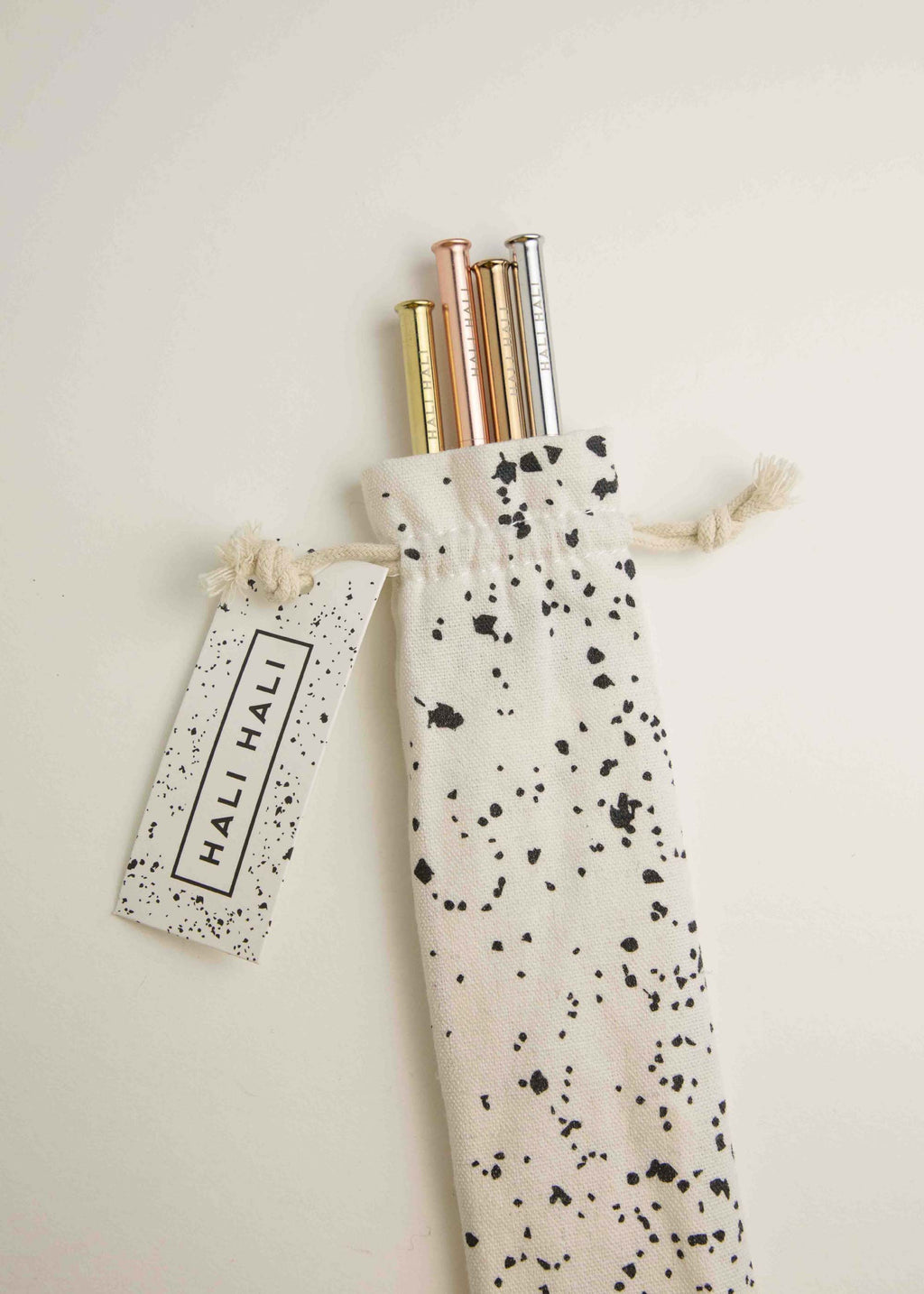 Splatter- Reusable Straws Set with Cotton Pouch
