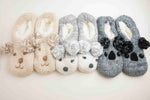 Fuzzy Babba Chunky Knit Slipper Socks-Picnic-sf