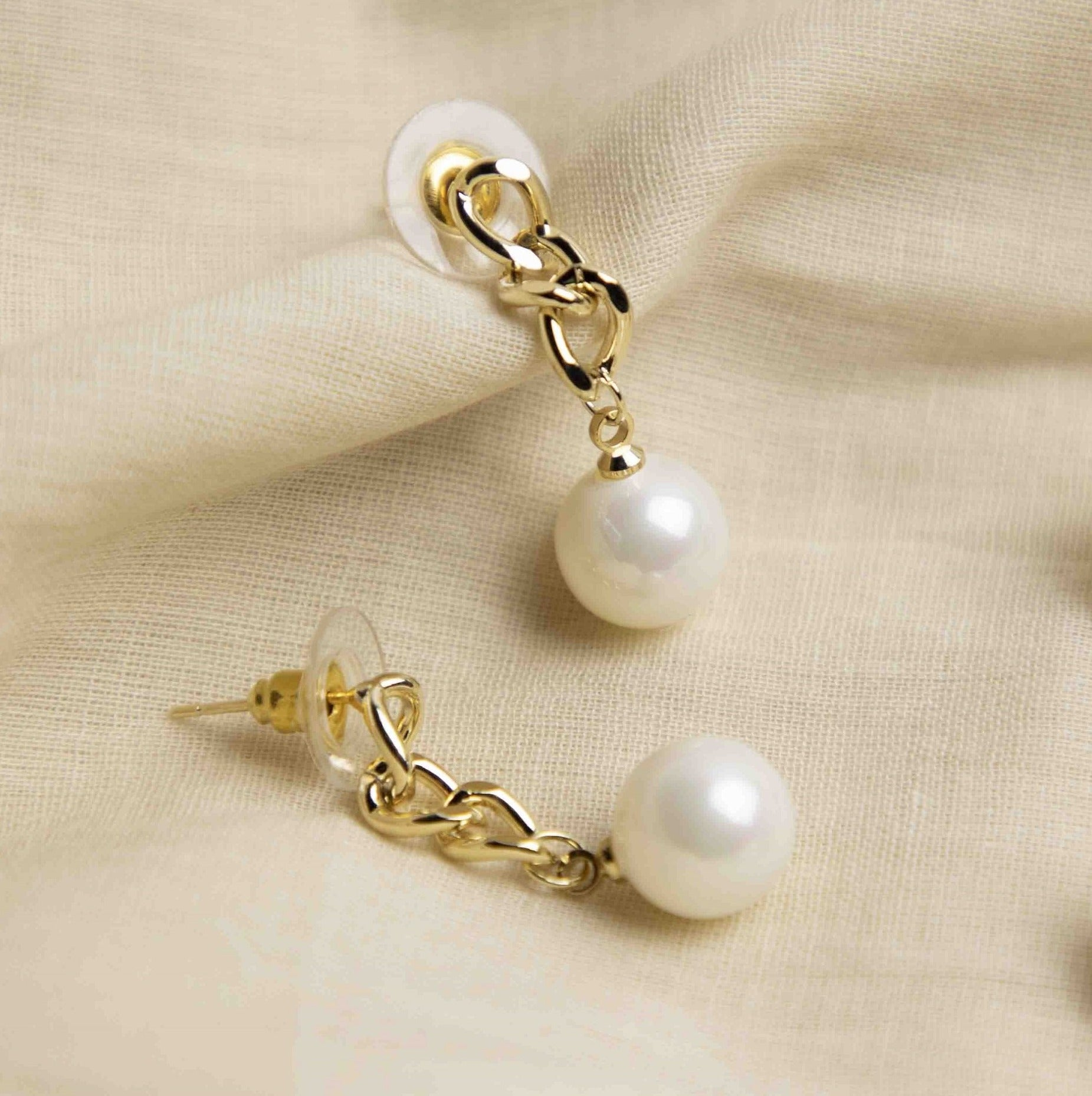 Pearl Chain Drop Earrings - picnic-sf