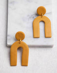Arc Clay Drop Earrings - picnic-sf