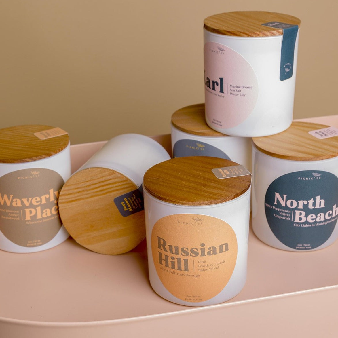 Russian Hill candle a Picnic exclusive San Francisco is available at Picnic SF
