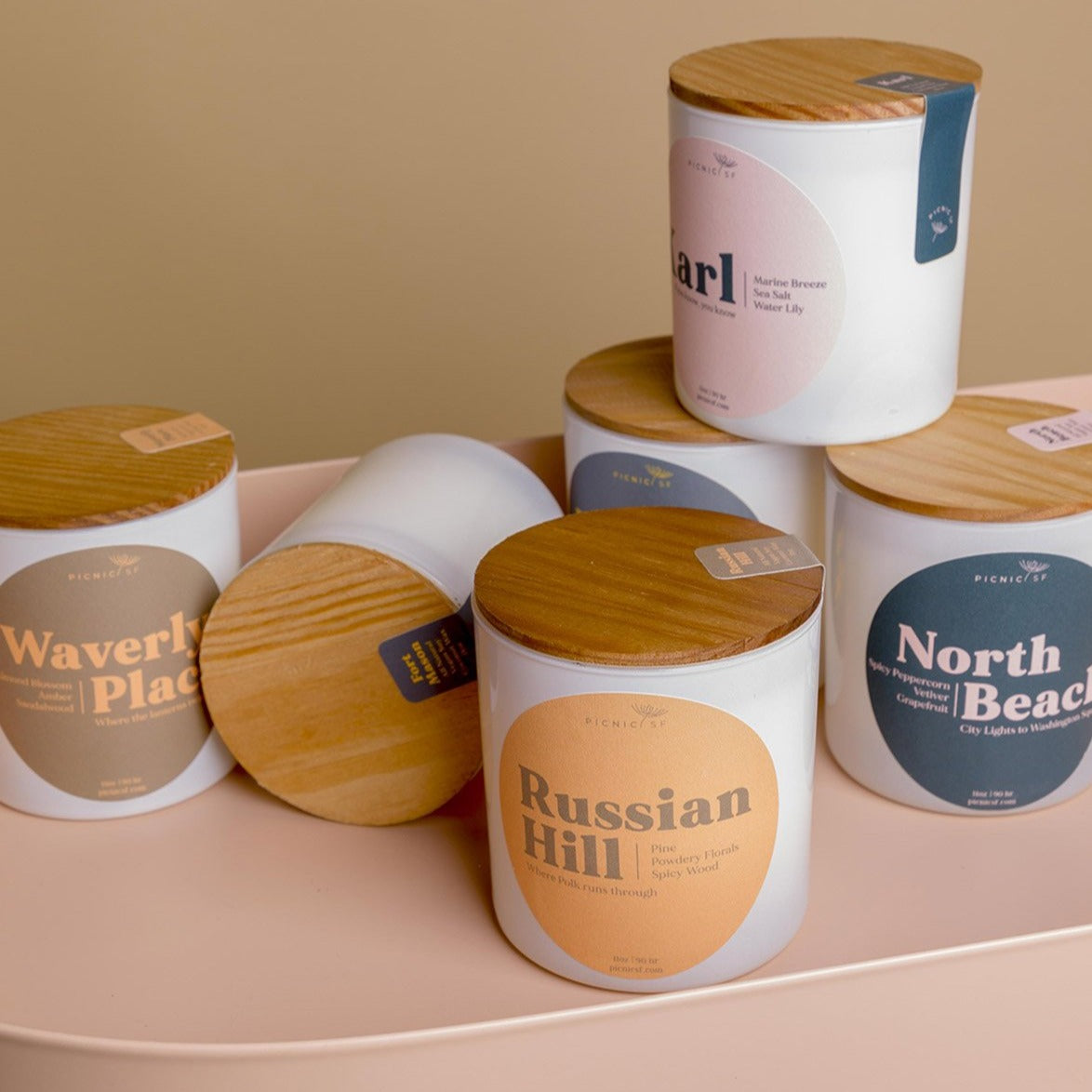 waverly place candle is a picnic exclusive San Francisco candle available at Picnic SF