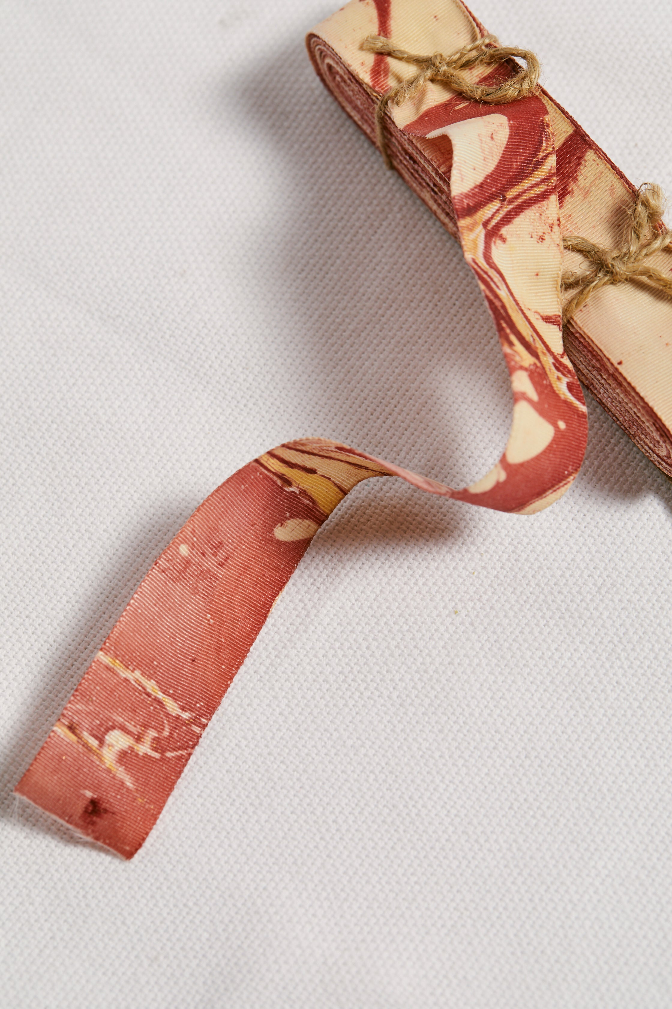 Red Marbleized Grosgrain Ribbon - picnic-sf