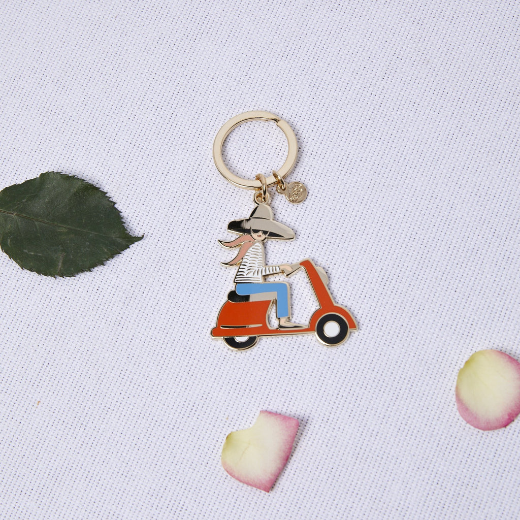 Scooter Enamel Keychain - picnic-sf