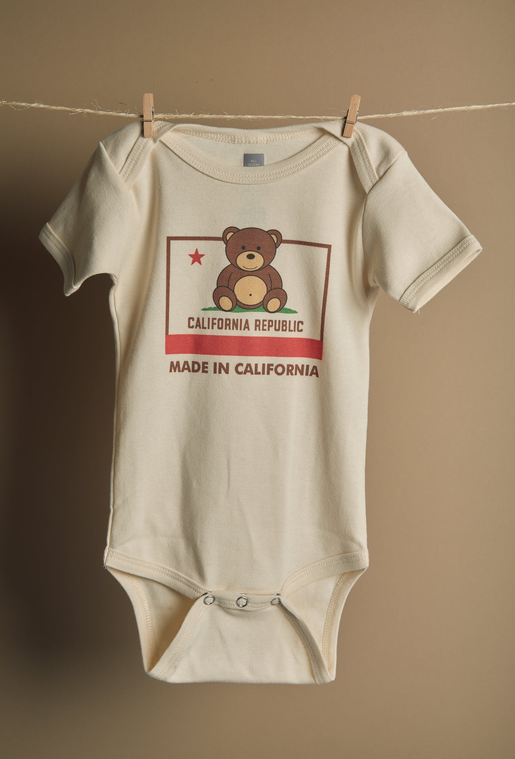 Made in CA Onesie - picnic-sf