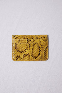 Yellow Snakeskin Multi Slots Card Case - picnic-sf