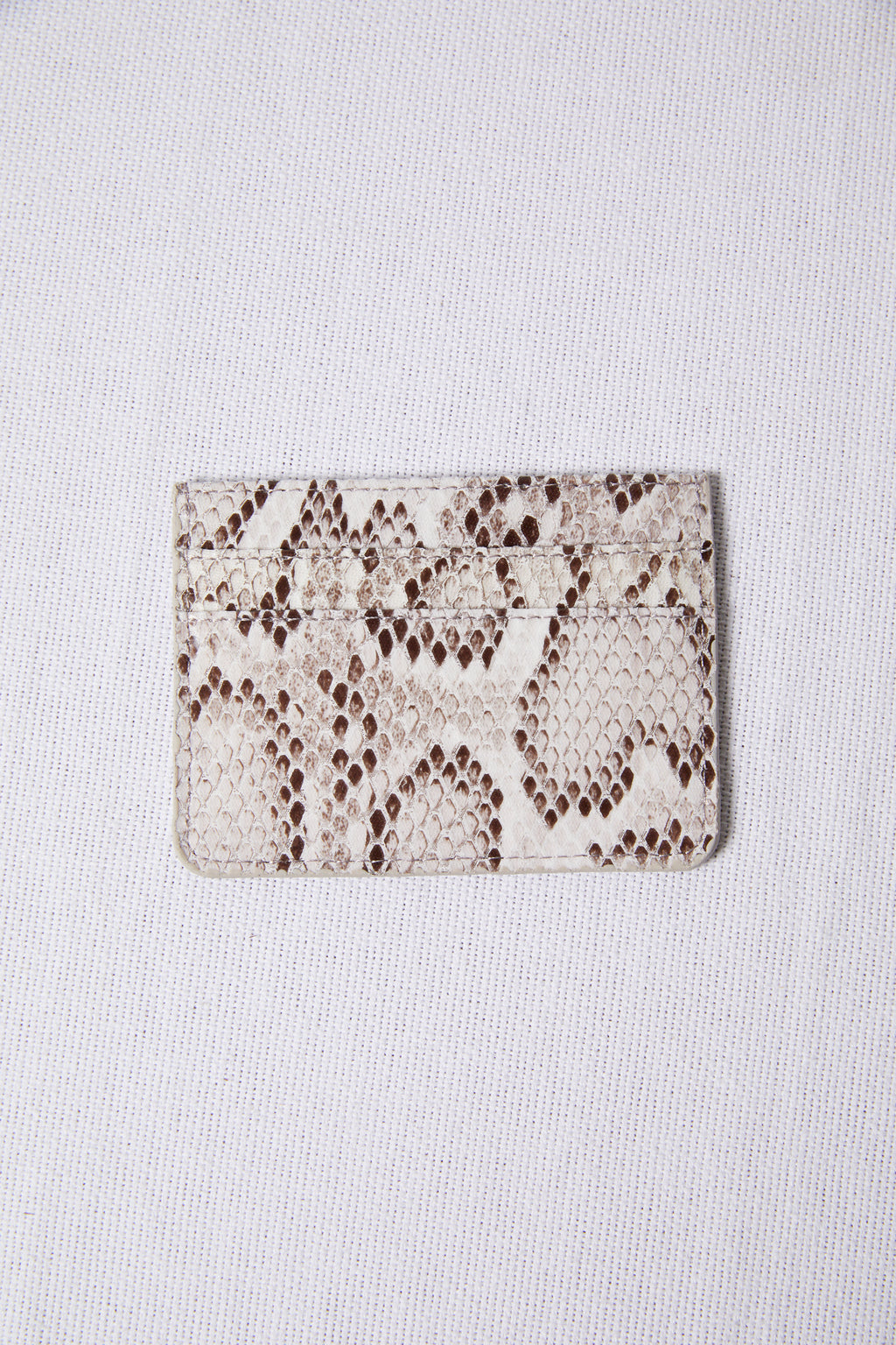 White Snakeskin Multi Slots Card Case - picnic-sf