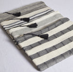 Striped & Tassel Cotton Pouch - picnic-sf