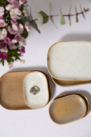 Brown Mini Stoneware Dish - picnic-sf