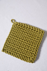 Square Cotton Crocheted Pot Holder - picnic-sf