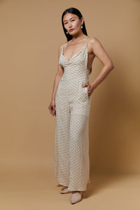 Polka Dots Wide Leg Jumpsuit - picnic-sf