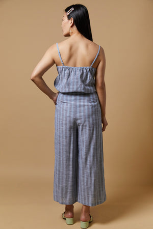 Set Ihtulle Striped Wide Leg Pants - picnic-sf