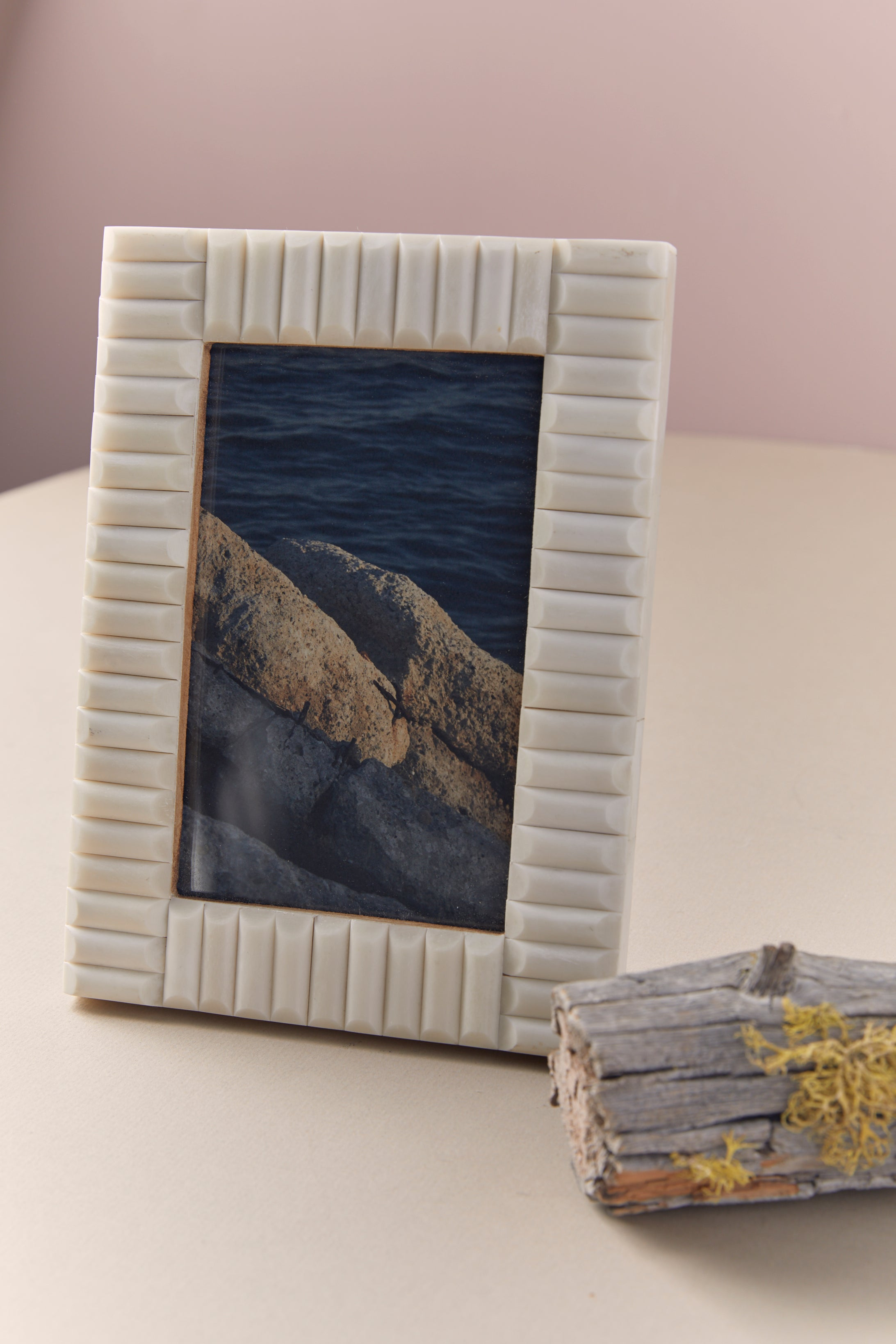 Carved Bone Photo Frame - P I C N I C