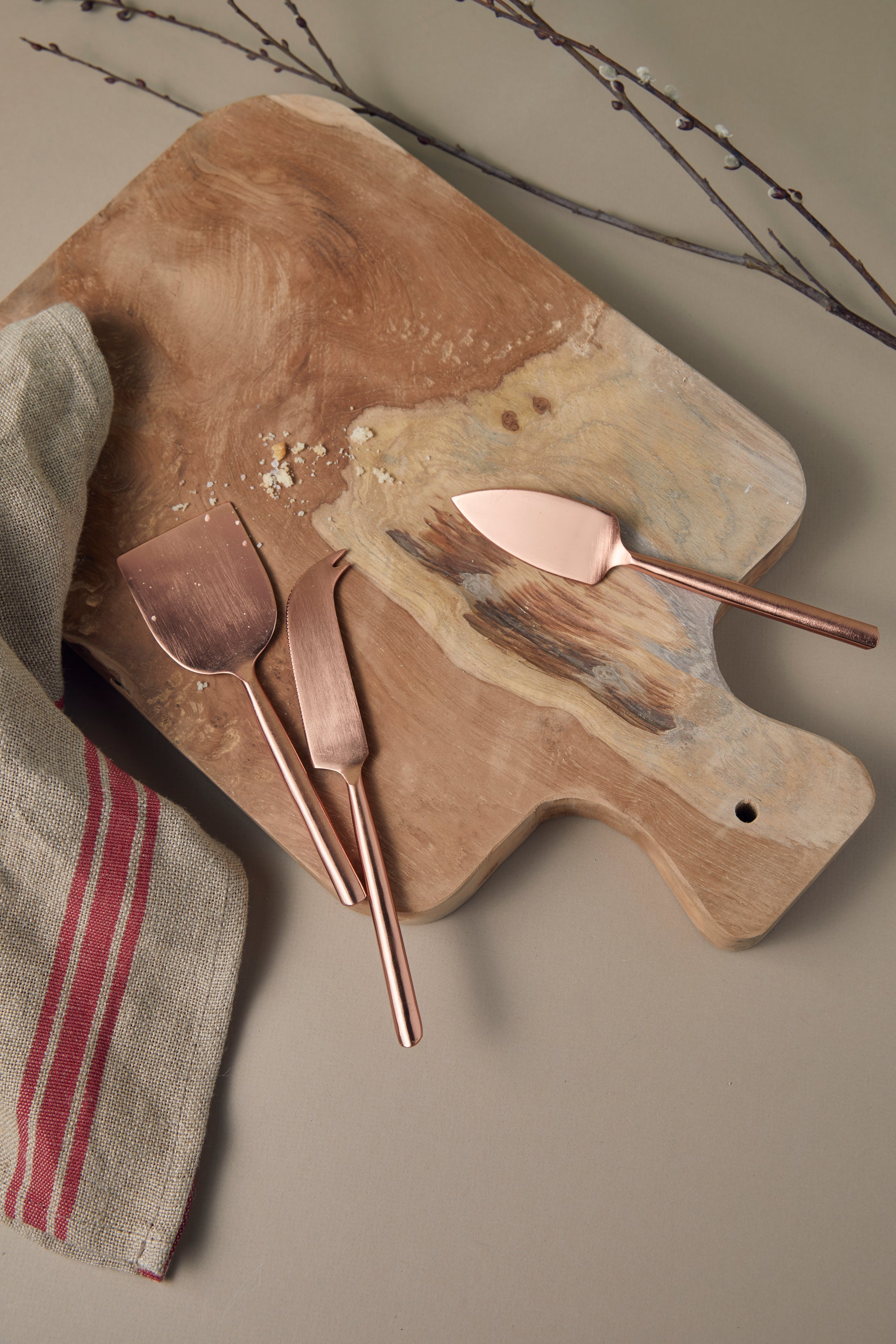 Copper Cheese Knife Set