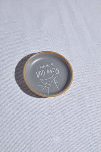 Bad Kitty Mini Round Tray - P I C N I C