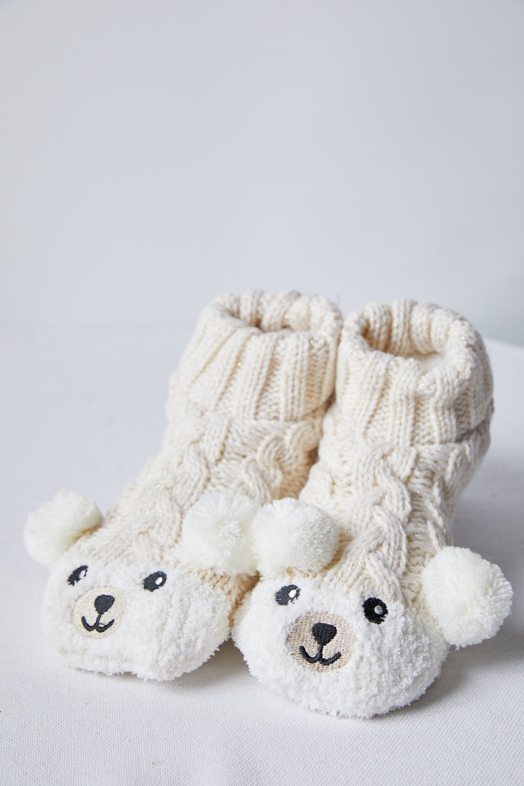 Bear Fuzzy Slipper Socks - picnic-sf